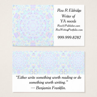 Princess Pastel Mandala Business Card