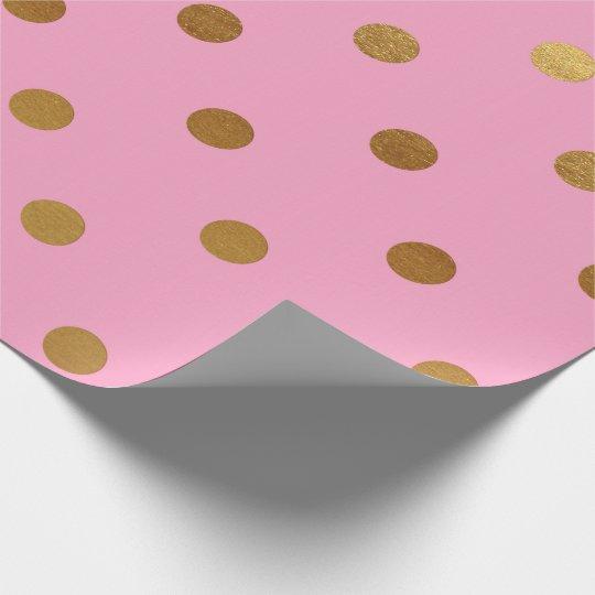 Princess Pastel Pink Rose Gold Polka Dots