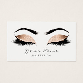 Princess Peach Makeup Artist Lashes Beauty Studio Business Card