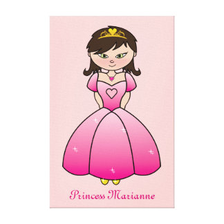 Princess Personalized Girls Room Canvas Wall Art