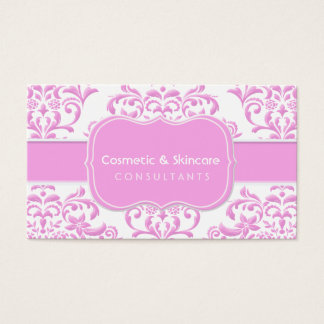Princess Pink Floral Damask Business Card