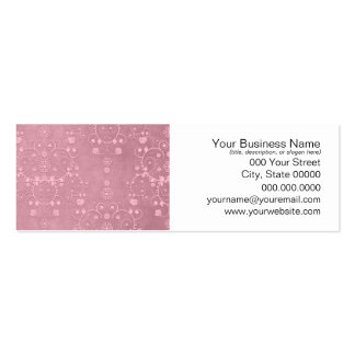 Princess Pink Girly Floral Damask Pattern Pack Of Skinny Business Cards