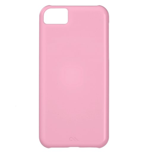 Princess Pink Girly Pastel Pink Only Color Pink Cover For iPhone 5C