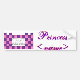 Princess Pink/Purple Castle Bumper Sticker