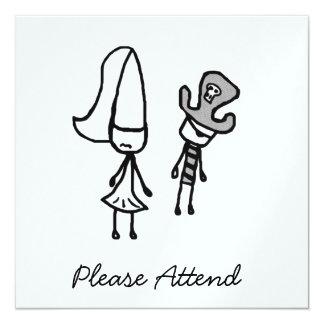 Princess & Pirate Doodle Card