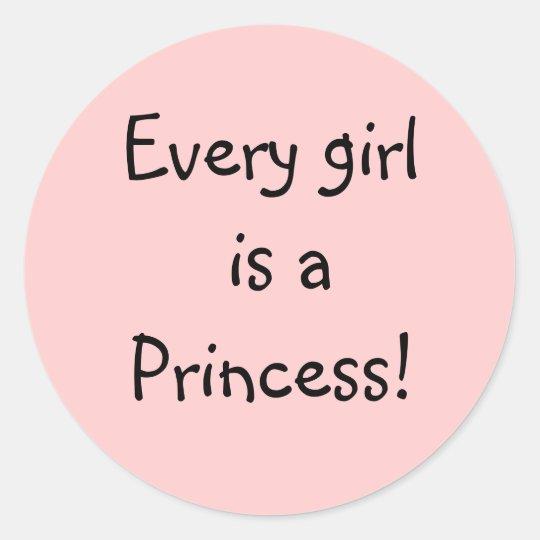 Princess Power! Classic Round Sticker