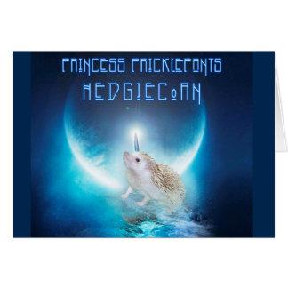 Princess Pricklepants HedgiCorn Card