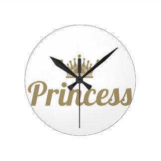 Princess Round Clock