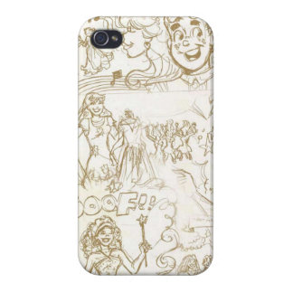 Princess Sketch Iphone Case iPhone 4 Cover