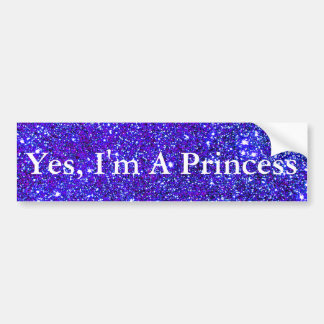 Princess Sparkly Glittery Night Sky Starfield Star Bumper Sticker