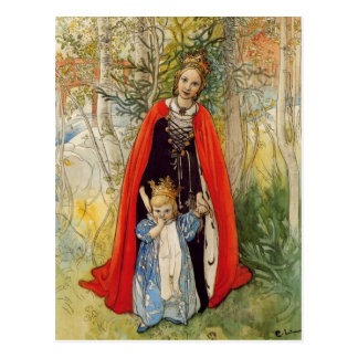 Princess Spring Mother and Daughter Postcard