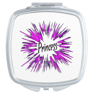 Princess Star in Pink Travel Mirrors