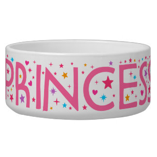 Princess Stars and Hearts Pet food bowl