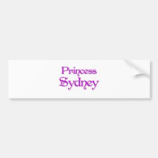 Princess Sydney Bumper Stickers