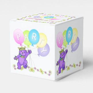 Princess Teddy Bear 7th Birthday Party Custom Favor Box