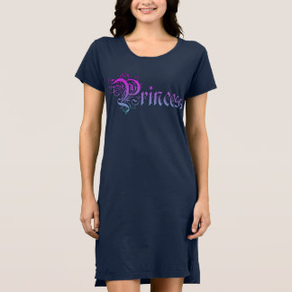Princess Text Written in Purple Color Gradient Dress