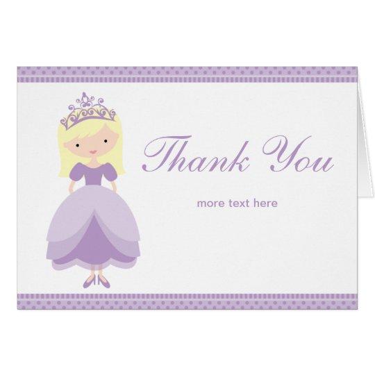 Princess Thank You Card