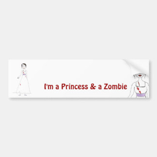 Princess the Zombie the second Bumper Sticker