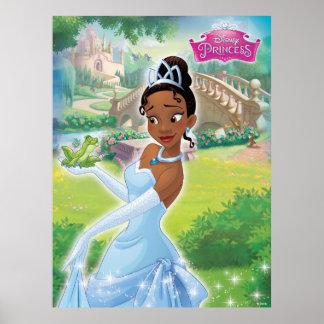 Princess Tiana in the Garden Poster