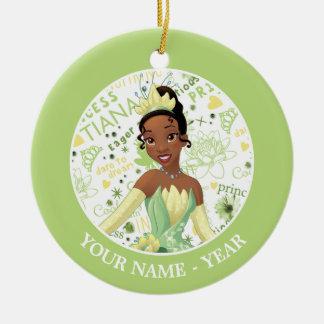 Princess Tiana   Tiana Add Your Name Ceramic Ornament