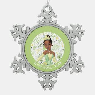 Princess Tiana | Tiana Add Your Name Snowflake Pewter Christmas Ornament