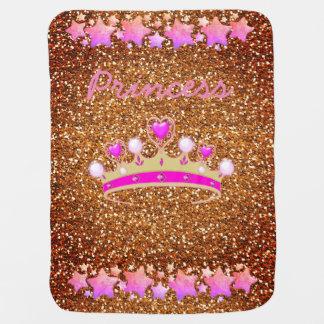 Princess Tiara baby girl blanket