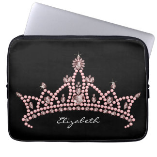 Princess Tiara Crown Laptop Sleeve (black)
