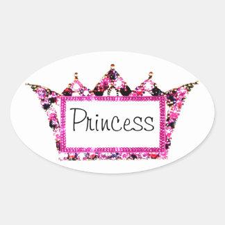 """Princess"" Tiara Label Stickers"