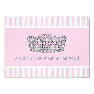 Princess Tiara Pink Princess Girl Baby Shower Card