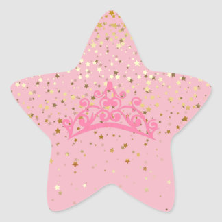 Princess Tiara & Stars Stickers