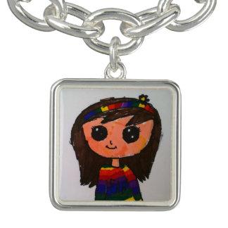 Princess Toytastic Charm Bracelet, Silver Plated