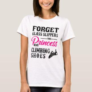 Princess Wears Climbing Shoes T-shirt