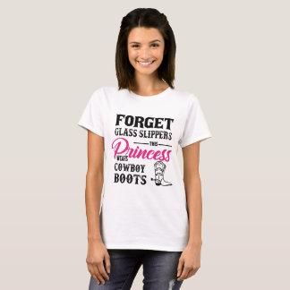 Princess Wears Cowboy Boots T-shirt
