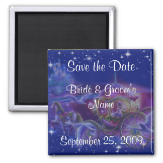 Princess Wedding Save The Date Magnets