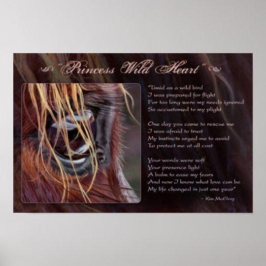 Princess Wild Heart inspirational, © Kim McElroy Poster