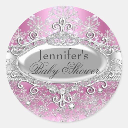Princess Winter Wonderland Baby Shower Sticker