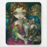 """""""Princess with a Maine Coon Cat"""" Mousepad"""
