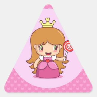 Princess with Hearts Triangle Sticker