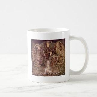 Princess with Trolls Classic White Coffee Mug