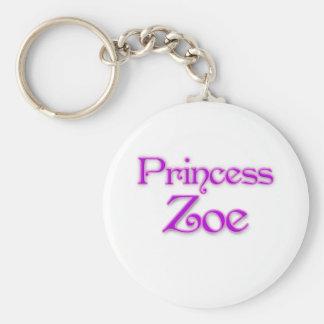 Princess Zoe Basic Round Button Keychain