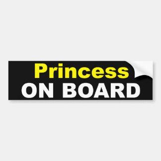 Princesse à bord adhésif pour pare-chocs autocollant de voiture