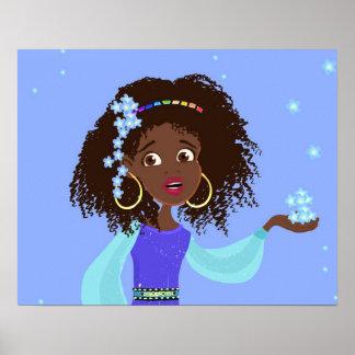 Princesse africaine Portrait Poster