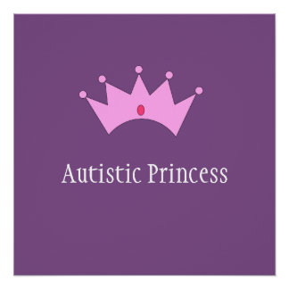 Princesse autiste Poster Perfect Poster