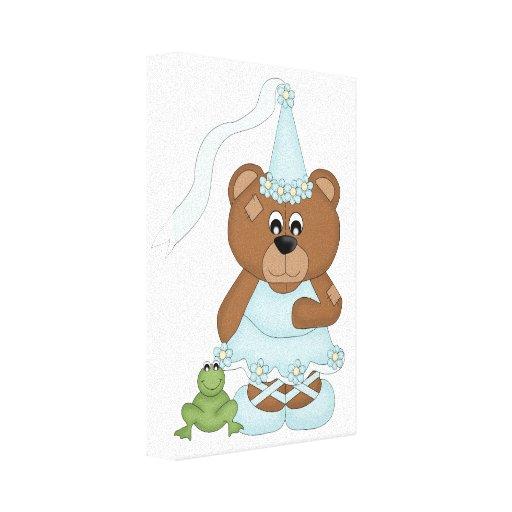 Princesse Bear (bleu-clair) Toiles Tendues