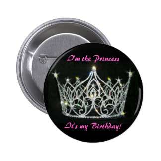 PRINCESSE BIRTHDAY PIN MACARON ROND 5 CM