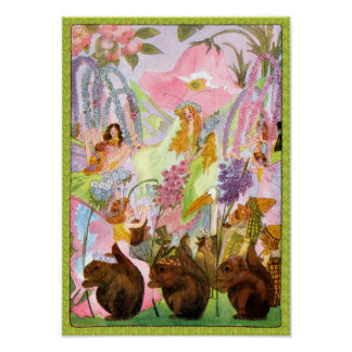 Princesse Butterfly Fairy Flowers Print Affiches