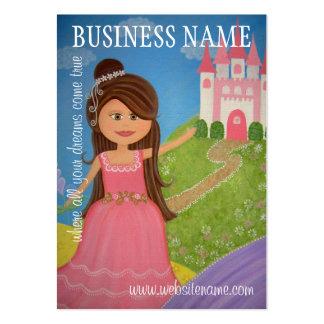 Princesse Castle - étiquettes et cartes de visite Carte De Visite Grand Format