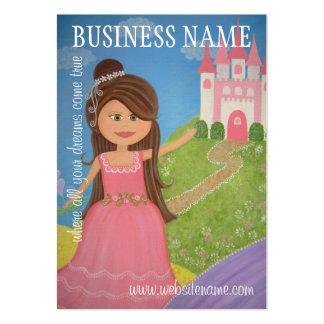 Princesse Castle Hang Tags et cartes de visite - Carte De Visite Grand Format