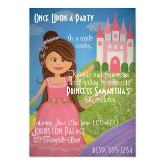 Princesse Castle Kids Party Invitation de conte de
