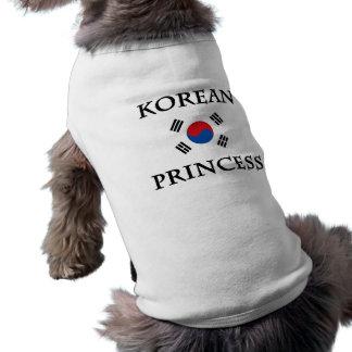 Princesse coréenne tee-shirt pour chien